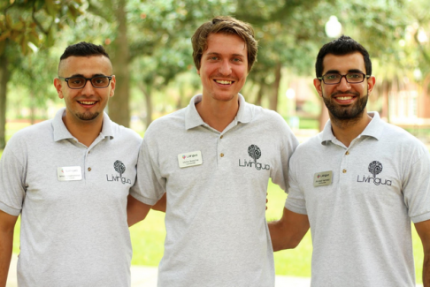 Livingua's founding team: (from left) Ismail Abushamma, 22, Palestine, Victor Borsche, 22, Germany and Ahmed Hemeid, 22, Palestine
